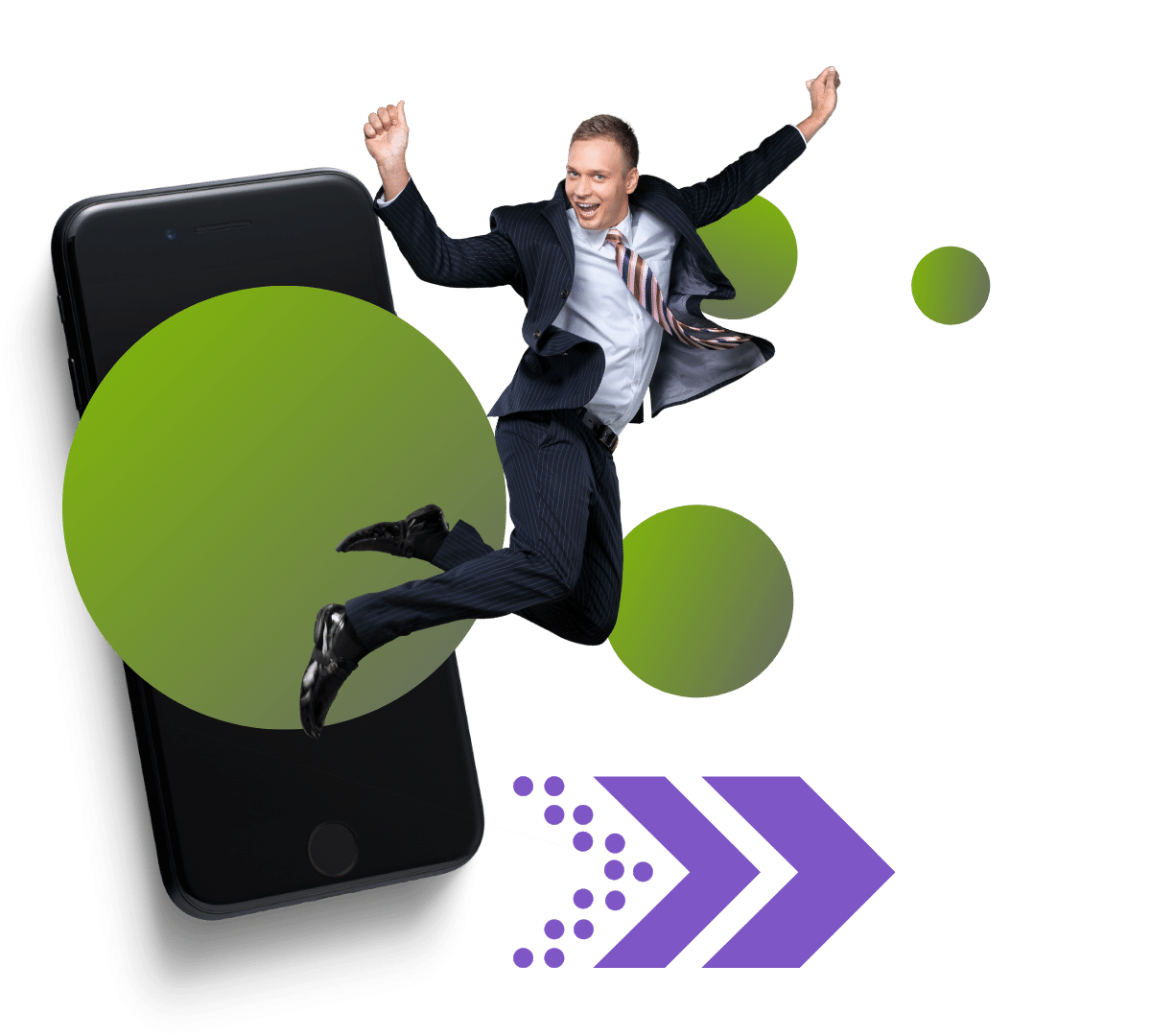 Man jumping out of phone new colours