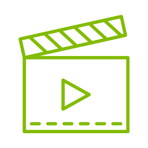 Green media symbol
